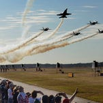 U.S. Navy Blue Angels leave Pensacola for winter training at El Centro Naval Air Facility