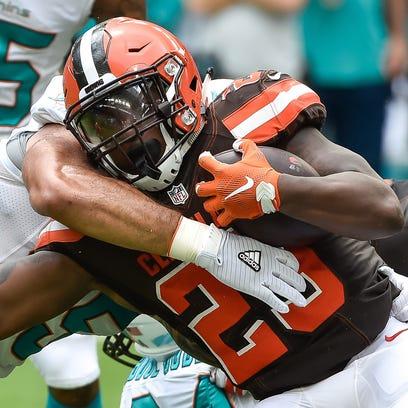 Browns running back Duke Johnson has seen his usage increase in each game so far this season.