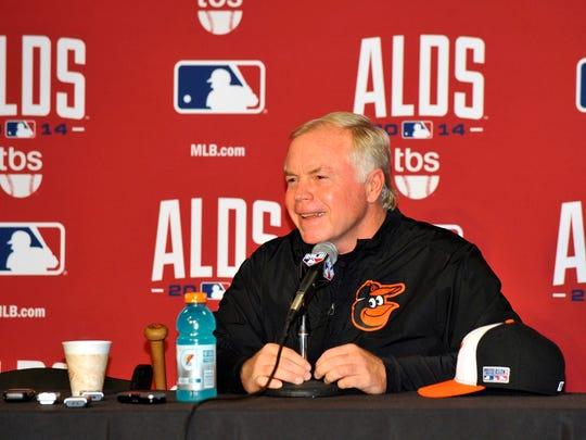 Baltimore Orioles manager Buck Showalter.
