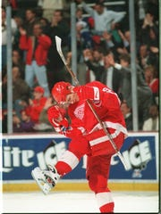 Sergei Fedorov celebrated 400 goals in a Wings uniform. He scored 483 in the NHL.