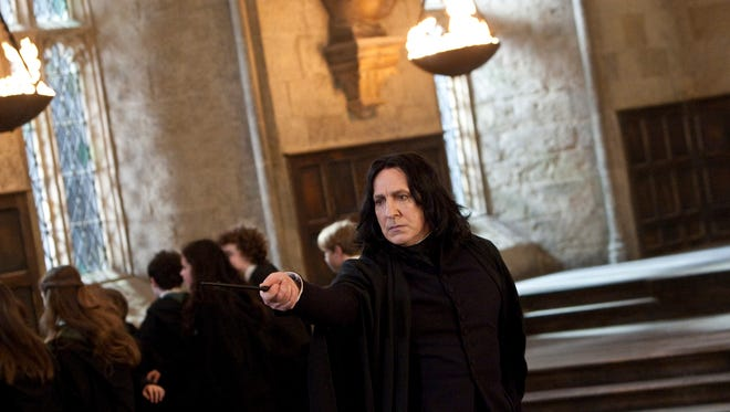 "Alan Rickman as Professor Severus Snape in a scene from the motion picture, ""Harry Potter and the Deathly Hallows - Part 2."""