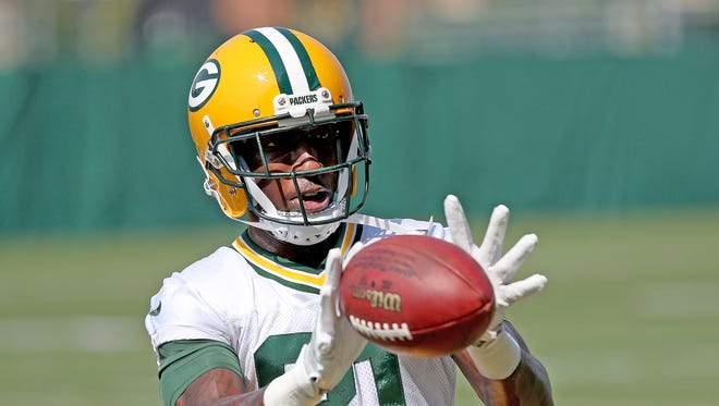 Recently activated Green Bay Packers wide receiver Geronimo Allison (81) during practice Wednesday, September 13, 2017 at Clarke Hinkle Field in Ashwaubenon, Wis.