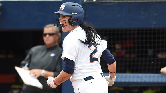 Auburn shortstop Haley Fagan's solo home run helped send the Tigers past her former team.