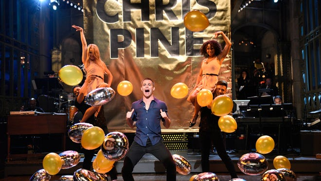 Chris Pine delivers his SNL opening monologue on May 6, 2017.