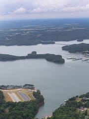 Green Pond Boat Landing (below) near Portman Marina (above) on Hartwell Lake in Anderson in 2016.