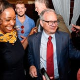 David Briley supporters gather at Cabana for election watch party