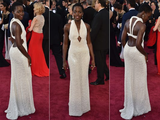 Lupita Nyong'o on Oscars red carpet