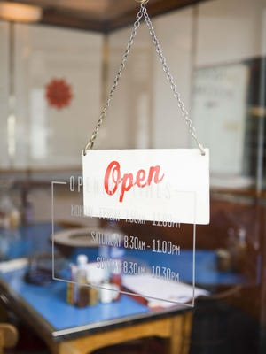 Open sign at diner