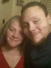 Brenda Taddeo Anderson with her son, Ronald Wynn, who