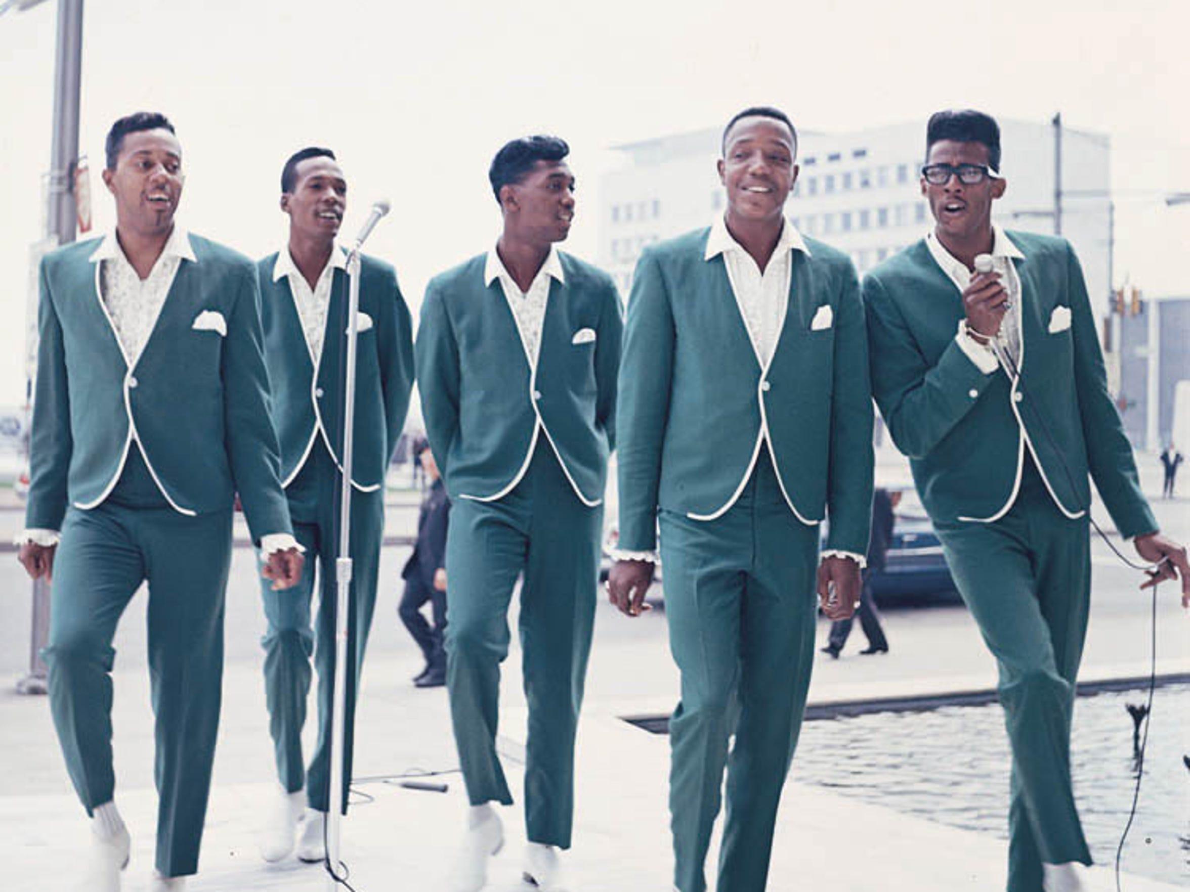 The Temptations on Detroit's Jefferson Avenue in 1965