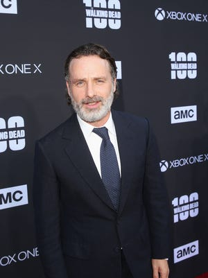 Andrew Lincoln at The Walking Dead 100th Episode Premiere and Party on October 22, 2017 in Los Angeles.