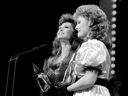 The mother-daughter team of Naomi, left, and Wynonna