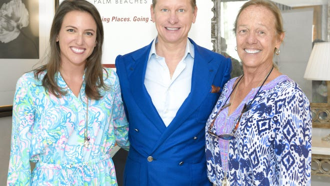 Lilly Pulitzer's granddaughter, Lilly Leas Ferreira, stylist and actor Carson Kressley and Pulitzer's daughter, Minnie Pulitzer McCluskey, at Friday's Dress for Success luncheon, which honored Lilly Pulitzer with the 2020 Style Icon Award.