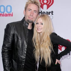 Chad Kroeger and Avril Lavigne in December 2013 in Miami, Florida.