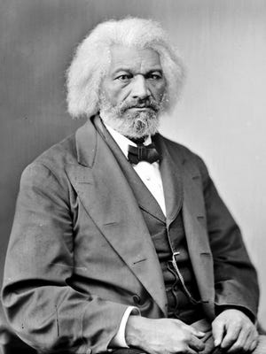 Library of Congress image. Frederick Douglass, who had been a slave at Wye House in his youth, revisted the estate in 1881. He also called upon the widow of Admiral Franklin Buchananan, who lived nearby.