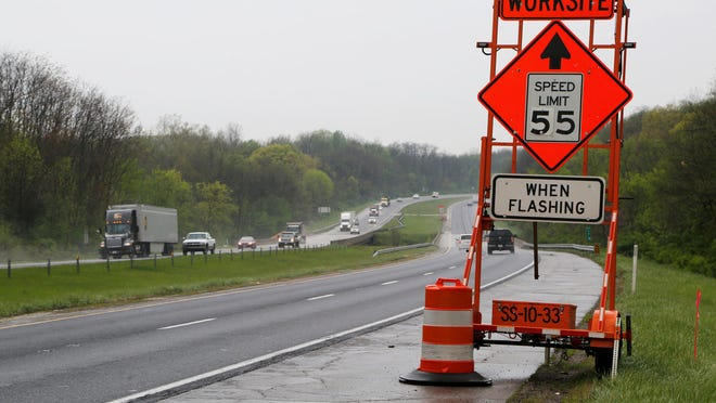 The speed limit in non-active work zones will decrease to 55 mph throughout the project. During active construction, the speed limit will be 45 mph and backups are expected.