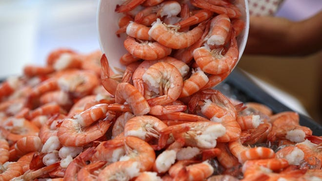 Fresh shrimp at last year's New Jersey Seafood Festival at Silver Lake Park in Belmar.