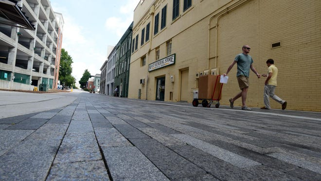 The One City Plaza renovations are set to extend along both ends of Laurens Street soon.