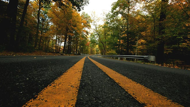 The pavement on Shades of Death Road.