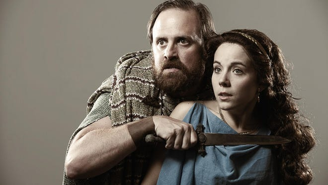 """Brad Brown and Corinne Bupp in Blackbird Theater Company's production of """"Myth."""""""