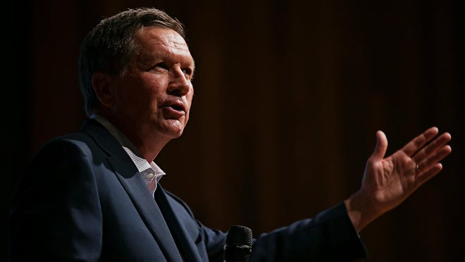 Presidential hopeful Gov. John Kasich speaks at the 2016 Iowa Caucus Consortium last month. Ohio Governor John Kasich speaks during the 2016 Iowa Caucus Consortium as part of the Caucus Candidate Forum Series at the Iowa State Historic Building on Wednesday, June 24, 2015.
