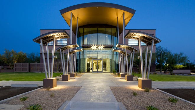 The Scottsdale Area Association of Realtors new headquarters features seven private events rooms, a new cafe, community lounge,  bistro seating and a dining patio.