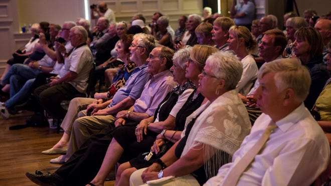 The auditorium was filled with people listening to the Cadillac Band at First United Methodist Church in Jackson on Sunday night.
