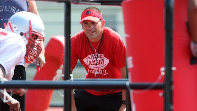 Perth Amboy football coach Brad Bishop