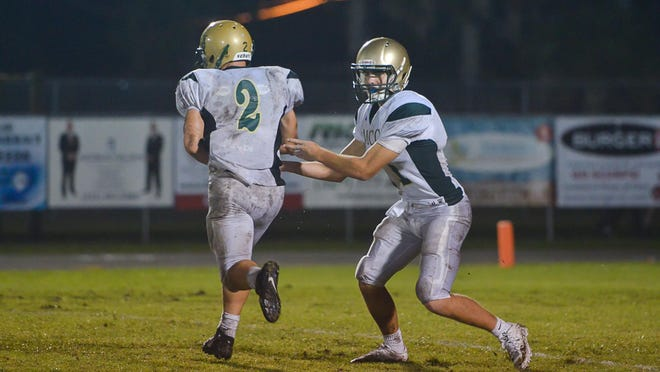 Melbourne Central Catholic traveled to Miami to play Archbishop Carroll on Friday. The Hustlers won 47-0.
