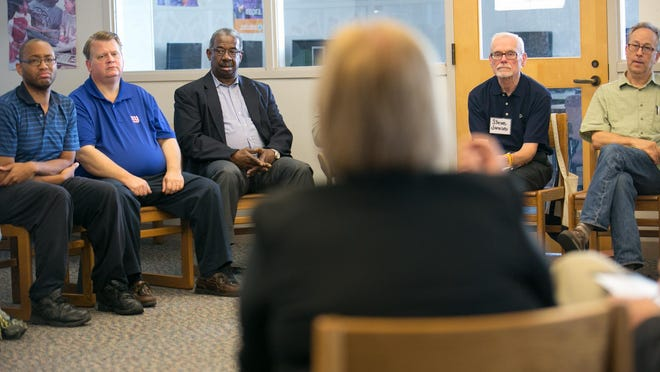 A panel discussing race at a Facing Race, Embracing Equity community summit in September in Rochester.