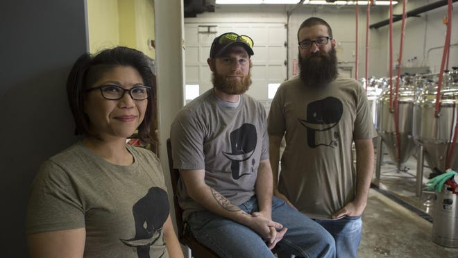 Owners Cindy DeRama, Scott McLuskey, and Tim Bescker are the three owners of the brewery. They talk about their new business in the brew haus. Twin Elephant Brewing is a new brewery opening May 7 at 13 Watchung Ave., Chatham.