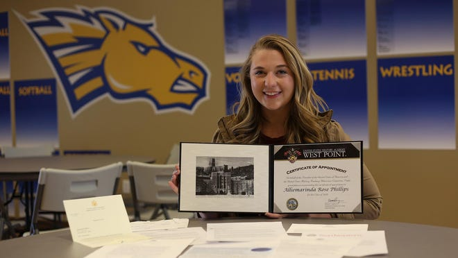 Alliemarinda Phillips, a senior at Central Catholic, was accepted into West Point, Georgetown, Villanova, Stanford, Northeastern, Boston College, the University of Chicago, UCLA and UC Santa Barbara. She is on the wait list at Yale.