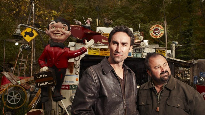 """Mike Wolfe, left, and Frank Fritz, stars of the History channel show """"American Pickers"""" will be in Michigan in June."""