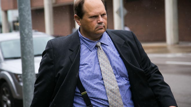 Former Multi-State Lottery Association security director Eddie Tipton leaves the Polk County Courthouse after being found guilty of fraud on Monday, July 20, 2015.