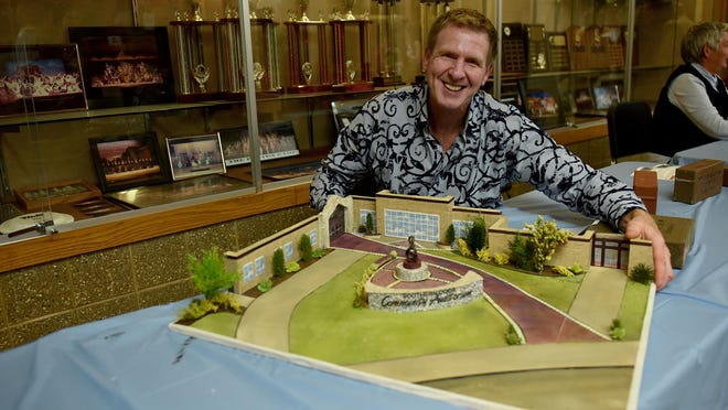 Door County artist Rob Soukup will be designing the centerpiece sculpture for the Convocation Plaza in front of the entrance to the Southern Door Community Auditorium at the high school. A personalized brick fundraiser in support of the plaza has begun.