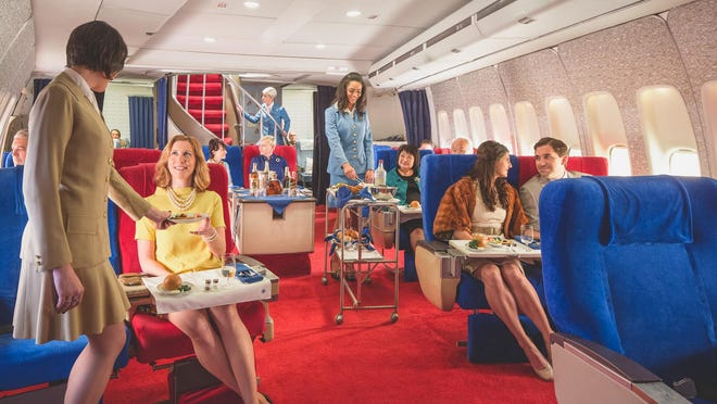 """Choose to """"fly"""" either First Class up the iconic winding staircase or in the Clipper Cabin."""