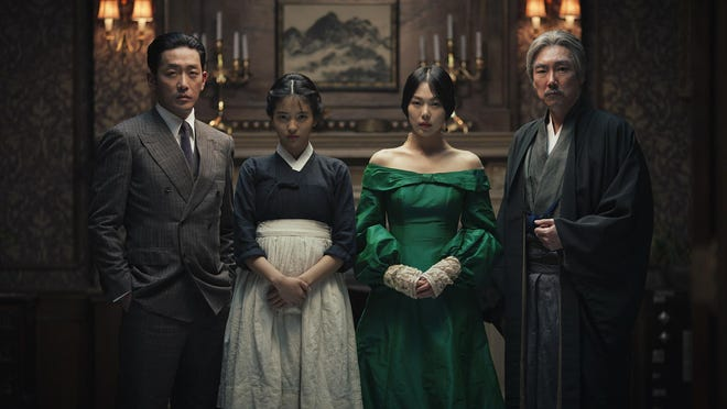 "Jung-woo Ha (from left), Kim Tae-ri, Kim Min-hee and Cho Jin-wong star in ""The Handmaiden."""