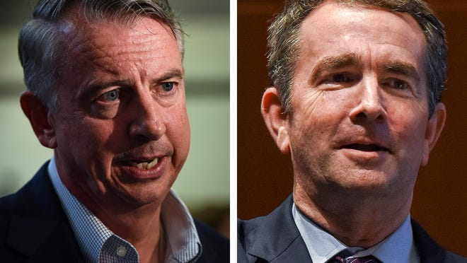 Republican Ed Gillespie, left, and Democrat Lt. Gov. Ralph Northam face each other in the Nov. 7 election for Virginia governor.