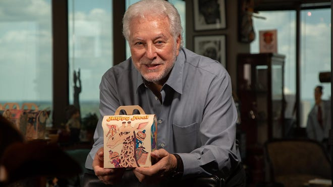 Ad exec Bob Bernstein holds one of the original Happy Meals he designed for McDonald's 40 years ago.