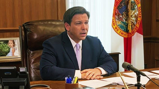 TALLAHASSEE -- Gov. Ron DeSantis has thus far, refused to follow the lead of other states that have issued broad shutdowns to control the spread of the coronavirus, instead shifting the onus to outside travelers whom he blames for bringing COVID-19 into Florida.