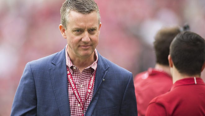 Alabama athletic director Greg Byrne has led a charge of getting UA in marquee non-conference football games, scheduling home-and-home series over a decade in advance..