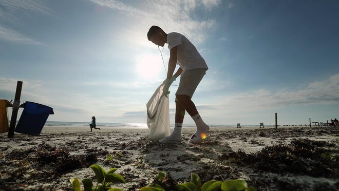 During last year's coastal cleanup event, there were 1,631 Volusia County volunteers at more than 40 locations, according to the news release, and over 7,302 pounds of trash were collected.