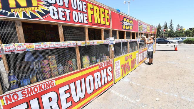 """A TNT Fireworks stand located on El Dorado Street and Swain Road in Stockton benefits the Mayfair Christian Church. """"This is our biggest fundraiser of the year. This is a really important fundraiser because of COVID-19,"""" said Cianna Chase, the church's director of fundraising. """"A lot of our other fundraisers had been canceled because of people not being able to be contact with each other. The fireworks have changed a little, too. We are being very safe with hand sanitizer, gloves and masks trying to keep everybody safe. Having people come to the booth is extremely important to us this year because right now this is our only fundraiser this year."""""""