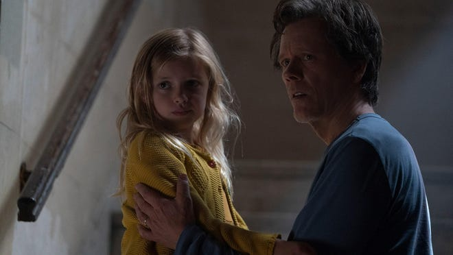 "Theo (Kevin Bacon) and Ella (Avery Tiiu Essex) in a scene from ""You Should Have Left"""