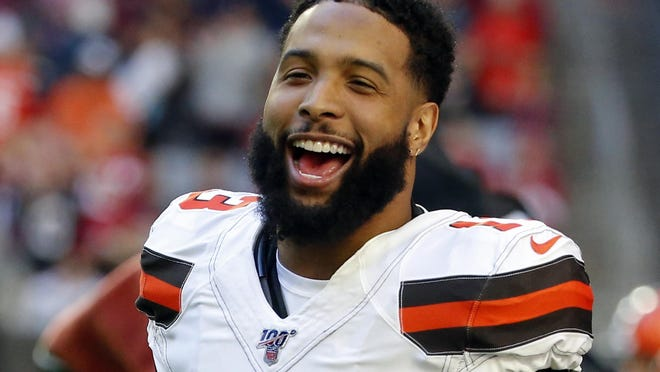 "Cleveland Browns wide receiver Odell Beckham, who skipped almost all of Cleveland's offseason program last spring after being acquired in a trade from the New York Giants, has been a ""model guy"" during the team's virtual program necessitated by the COVID-19 pandemic."