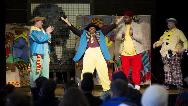 """Actors from Shopworks Theater perform """"Legends of the Lincoln,"""" an original play in honor of Aminah Robinson, at the third annual Aminah Robinson Family Day at the King Arts Complex in February."""