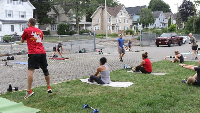 Blue Titan Fitness has made adjustments and recently the Rockaway gym has opened outdoor classes in the parking lot.
