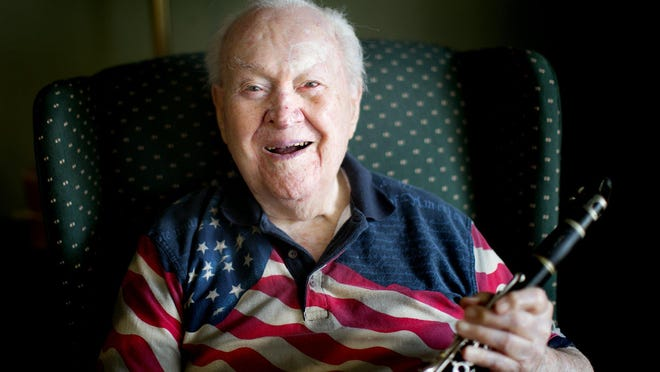 Veteran Robert Burns Wheeler Jr. of Upper Arlington, who turned 100 in July, played his clarinet with a military band aboard the USS Missouri as the Japanese signed the Instrument of Surrender on Sept. 2, 1945, ending World War II.