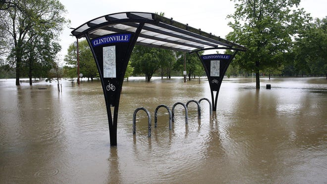 The Olentangy River floods Whetstone Park on May 19 after Columbus received 4.35 inches of rain May 18-19.