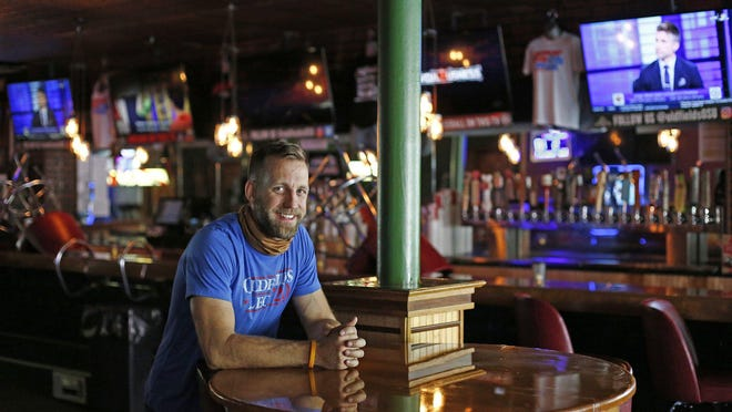 """Dan Starek, the owner of Oldfield North Fourth Tavern,  says he's """"pretty much written off football season,"""" since he won't be able to make more than 25% of his usual revenue every game."""